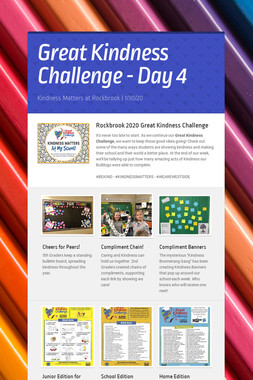 Great Kindness Challenge - Day 4