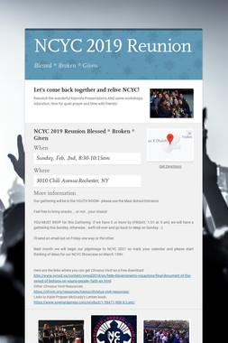 NCYC 2019 Reunion