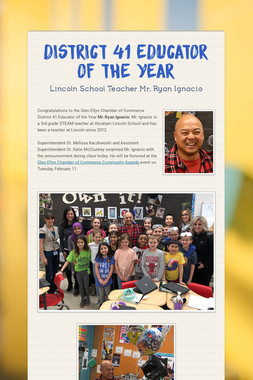 District 41 Educator of the Year