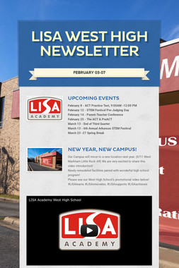 LISA West High Newsletter