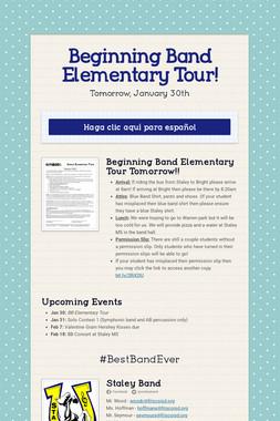 Beginning Band Elementary Tour!