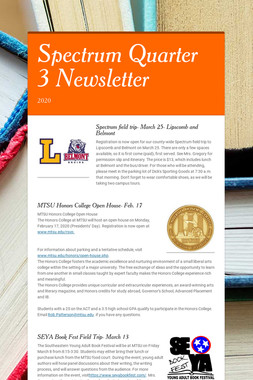 Spectrum Quarter 3 Newsletter