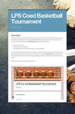 LPS Coed Basketball Tournament