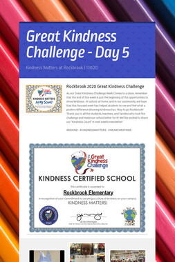 Great Kindness Challenge - Day 5