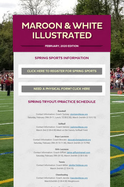 Maroon & White Illustrated