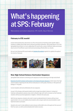 What's happening at SPS: February
