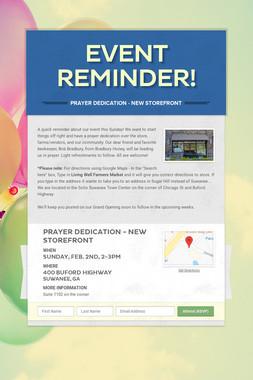 Event Reminder!