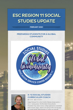 ESC Region 11 Social Studies Update