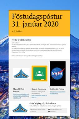 Föstudagspóstur 31. janúar 2020