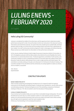 LULING ENEWS - FEBRUARY 2020
