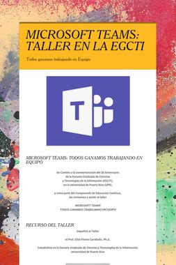 MICROSOFT TEAMS: TALLER EN LA EGCTI