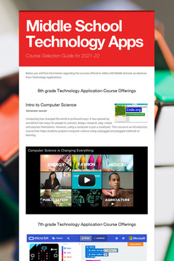 Middle School Technology Apps