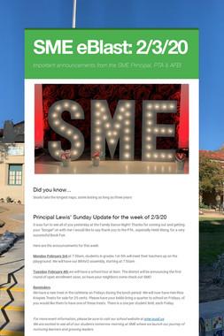 SME eBlast: 2/3/20