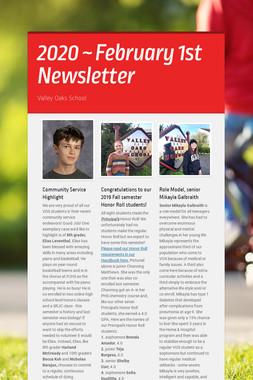 2020 ~ February 1st Newsletter