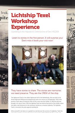 Lichtship Texel Workshop Experience