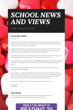 SCHOOL NEWS AND VIEWS