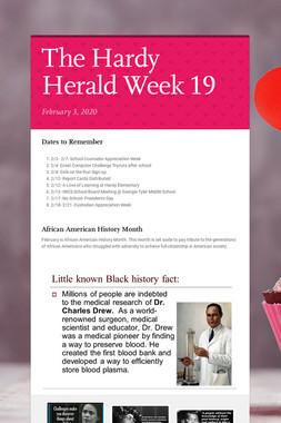 The Hardy Herald Week 19