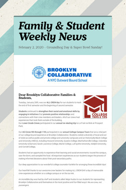 Family & Student Weekly News
