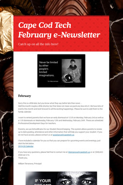 Cape Cod Tech February e-Newsletter
