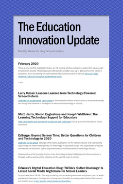 The Education Innovation Update