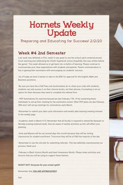 Hornets Weekly Update