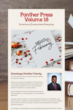 Panther Press Volume 18