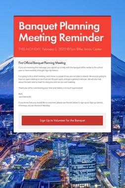 Banquet Planning Meeting Reminder