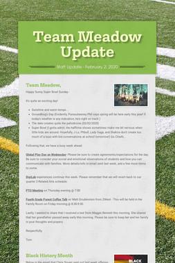 Team Meadow Update