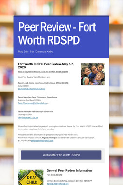 Peer Review - Fort Worth RDSPD