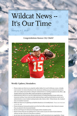 Wildcat News -- It's Our Time
