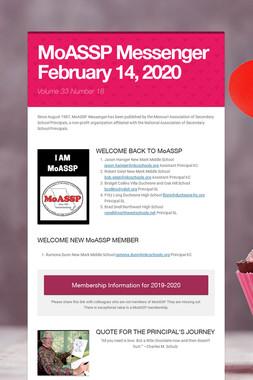 MoASSP Messenger February 14, 2020