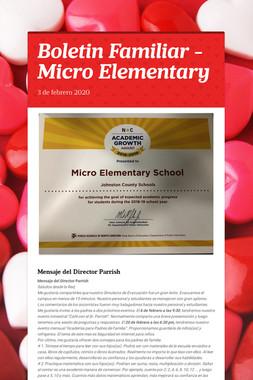 Boletin Familiar - Micro Elementary