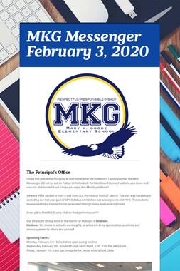 MKG Messenger February 3, 2020