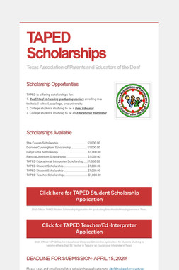 TAPED Scholarships