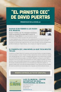"""""""El pianista cec"""" de David Puertas"""