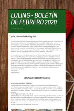 LULING - BOLETÍN DE FEBRERO 2020