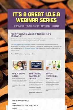 It's A Great I.D.E.A WEBINAR SERIES