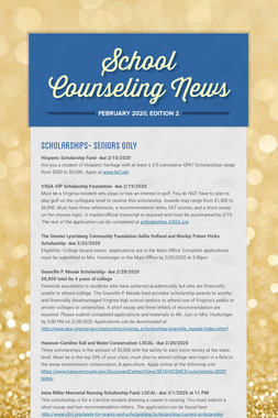 School Counseling News