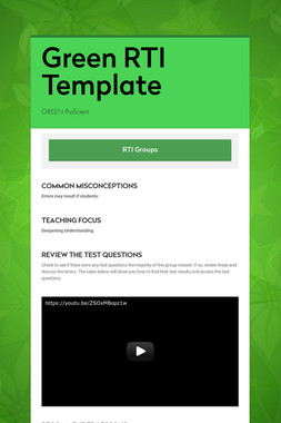 Green RTI Template