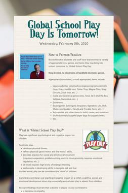 Global School Play Day Is Tomorrow!