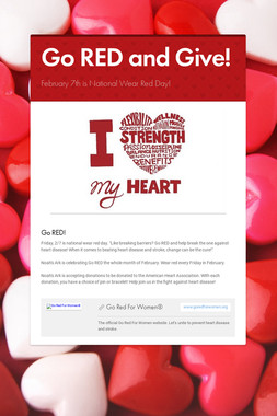 Go RED and Give!