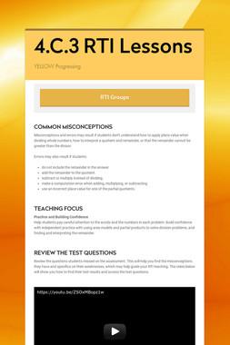4.C.3 RTI Lessons
