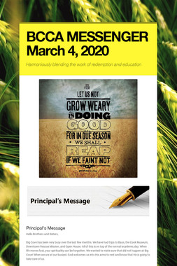 BCCA MESSENGER  March 3, 2020
