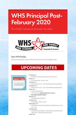 WHS Principal Post- February 2020