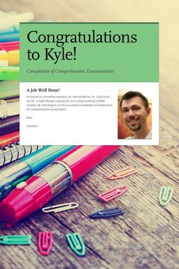 Congratulations to Kyle!