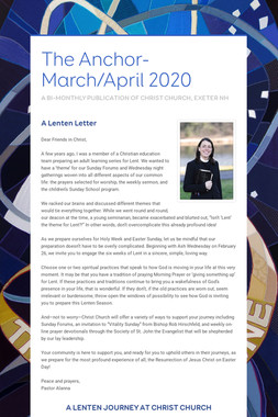 The Anchor- March/April 2020