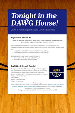 Tonight in the DAWG House!