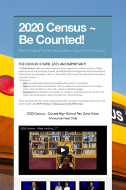 2020 Census ~ Be Counted!