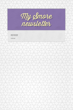 My Smore newsletter