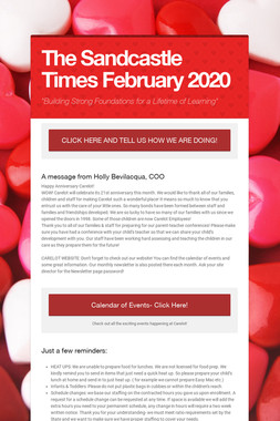 The Sandcastle Times  February 2020
